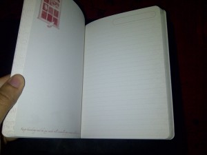 I love Rumi's quotes on the blank pages on your left & the lined pages for writing on your right.